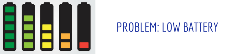 Problem: Low Battery